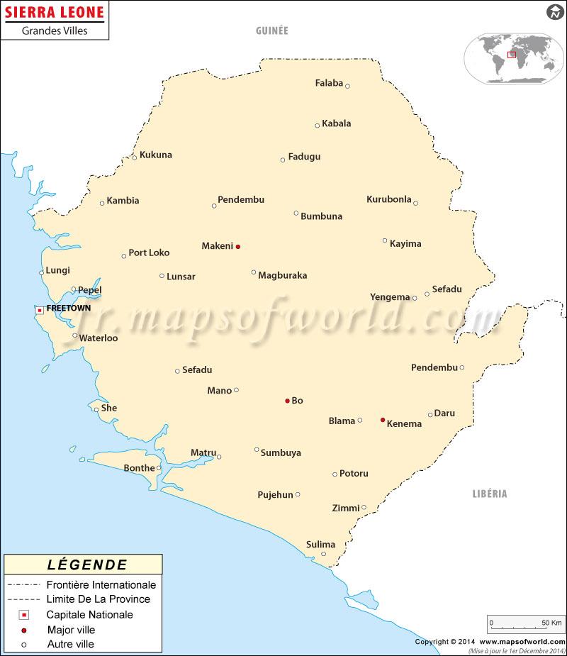 Villes en Sierra Leone