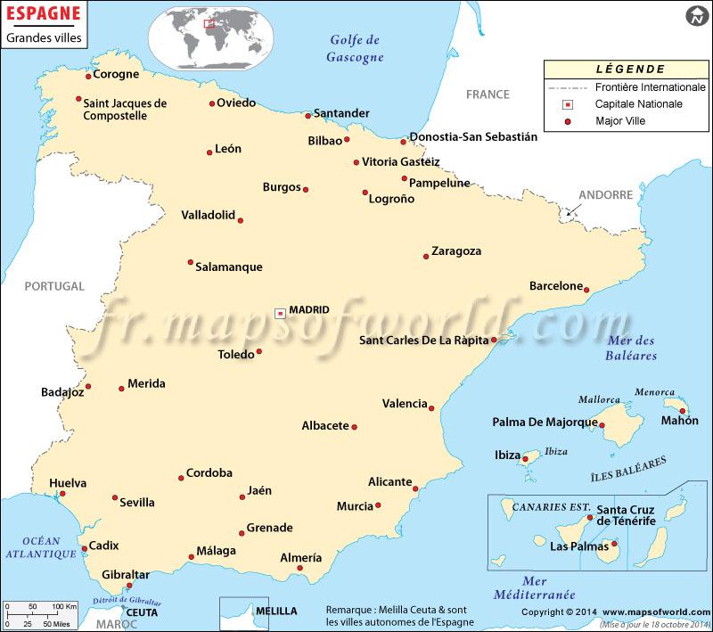 Villes en Espagne