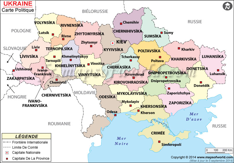 Ukraine Carte