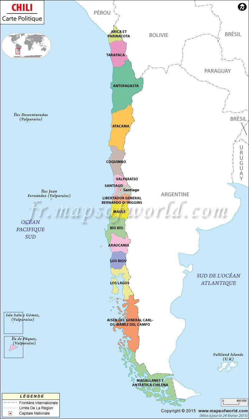 Carte du Chili