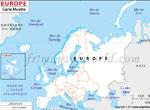 Carte vierge de l'Europe