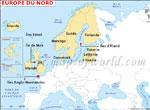 Europe du Nord Carte