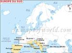 Europe du Sud Carte