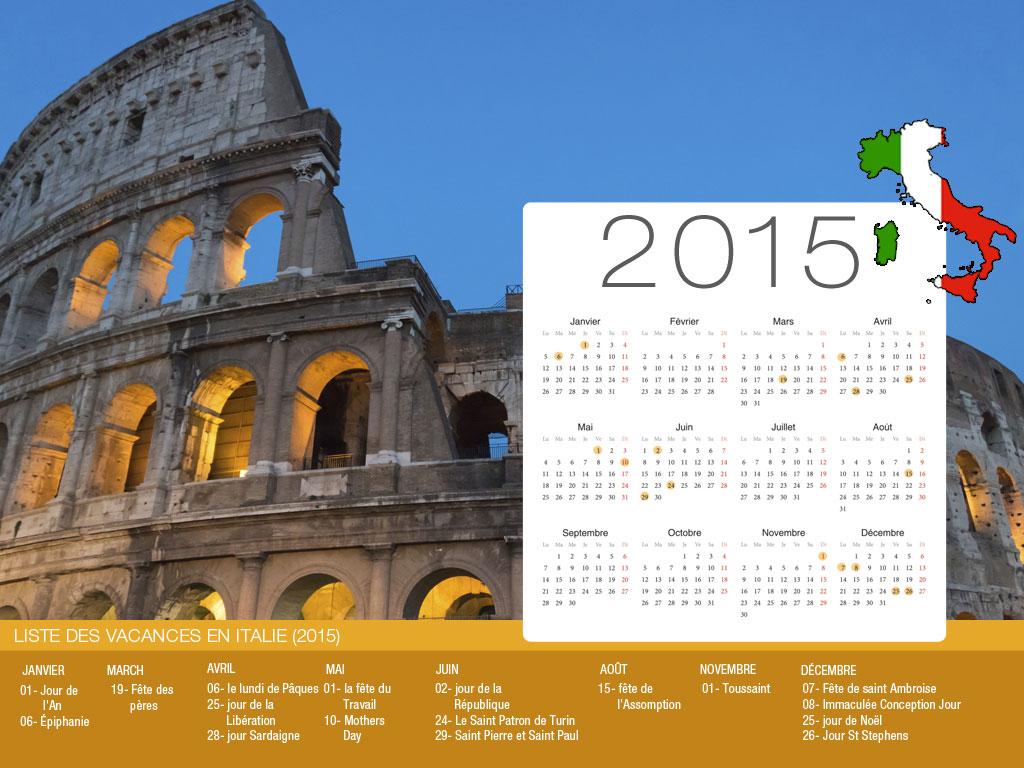 Italy  Holiday Calendar-800x600