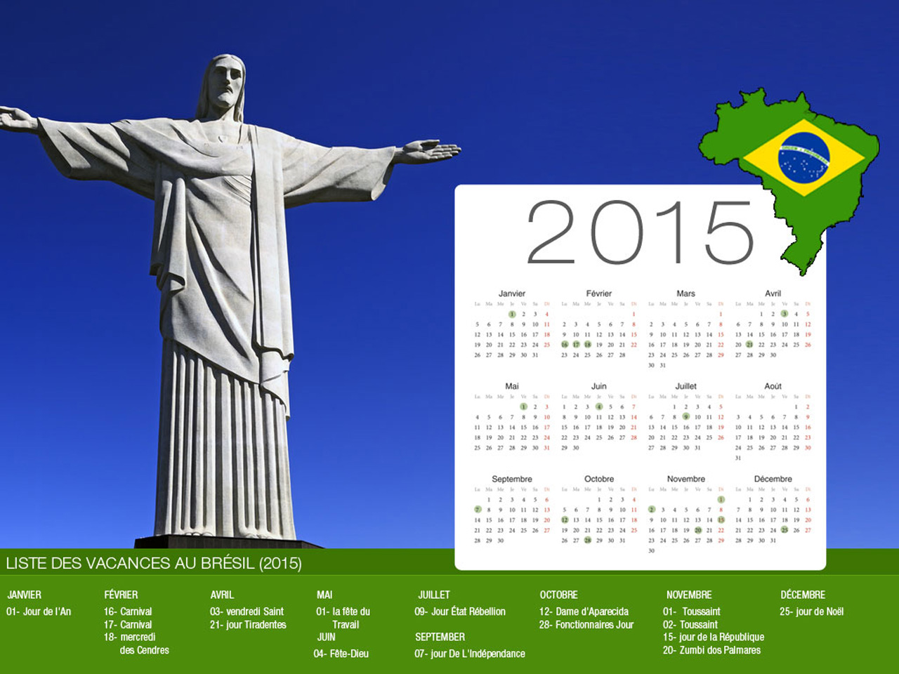 Brazil Holiday Calendar
