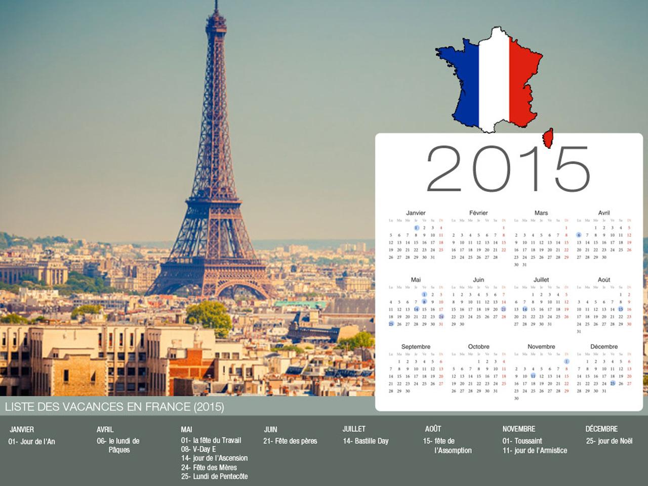 France  Holiday Calendar