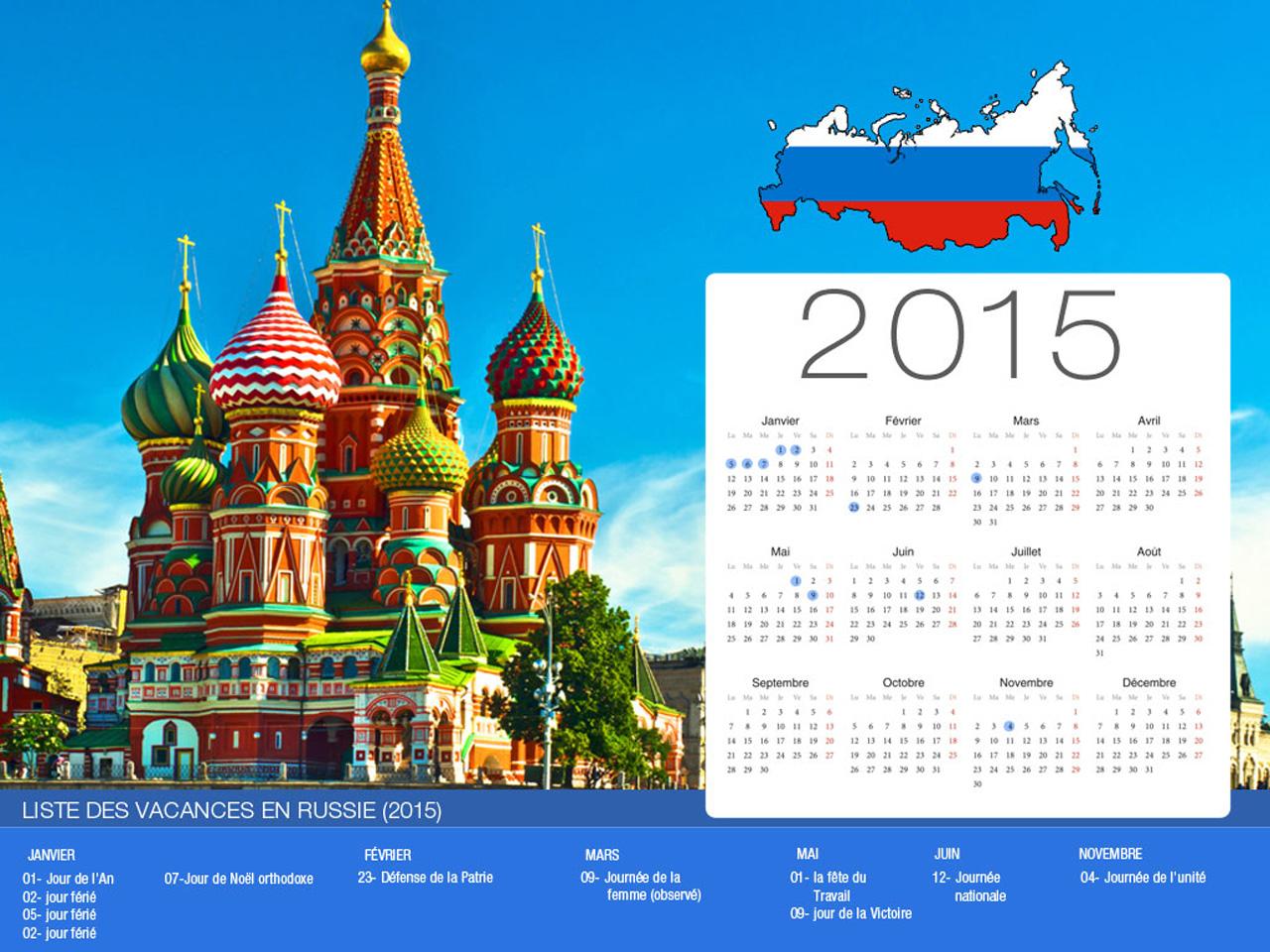Russia Holiday Calendar