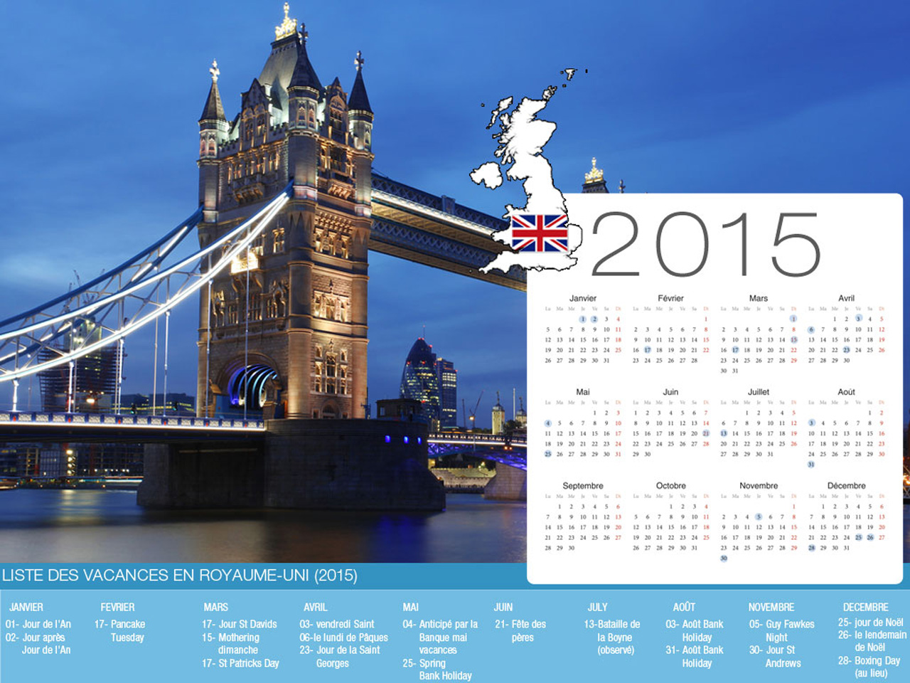 UK Holiday Calendar