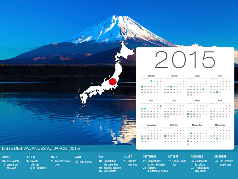 Japan  Holiday Calendar-800x600