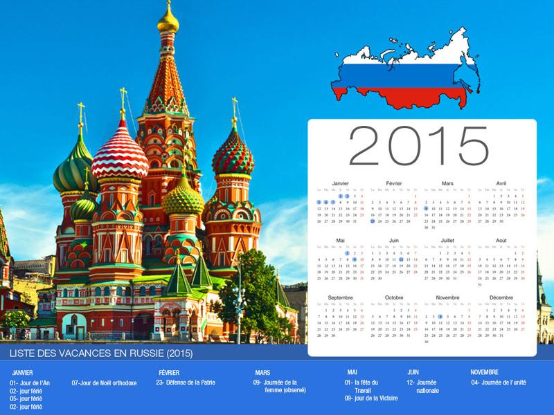 Calendrier de vacances Russie-800x600