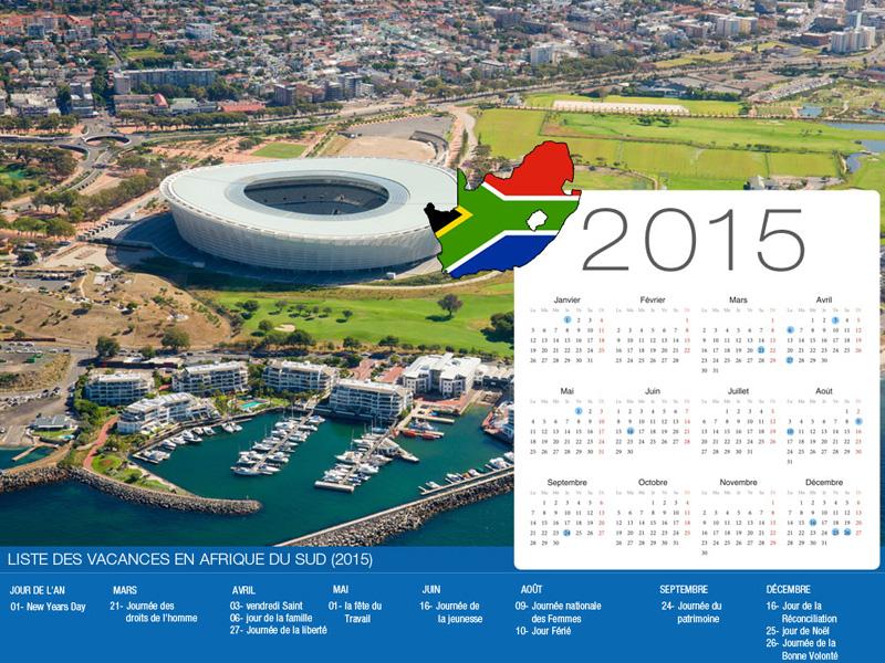 South Africa Holiday Calendar-800x600
