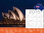 Calendrier de Vacances Australie 2015