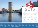 Calendrier de Vacances Canada 2015