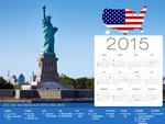 2015 Calendrier de Vacances aux Etats-Unis