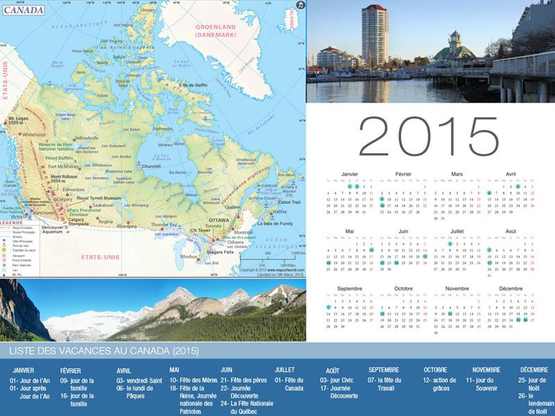 Canada Holiday Calendar-800x600