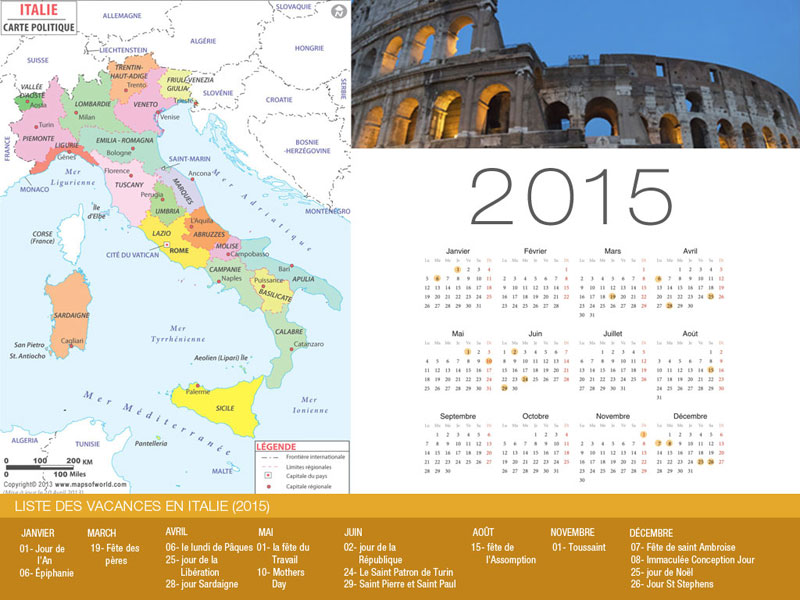 Calendrier de vacances Italie -800x600