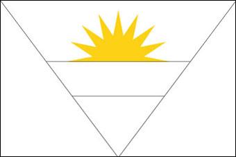 drapeau des iles antigua et barbuda