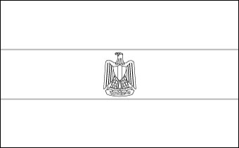 Egypt Coloring Page Flag