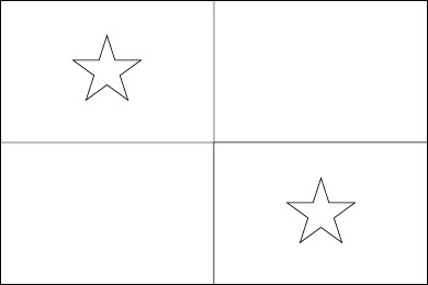 Cameroon Flag Template
