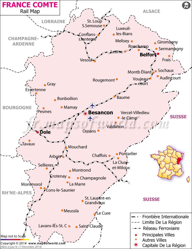 Franche Comte Railway Carte