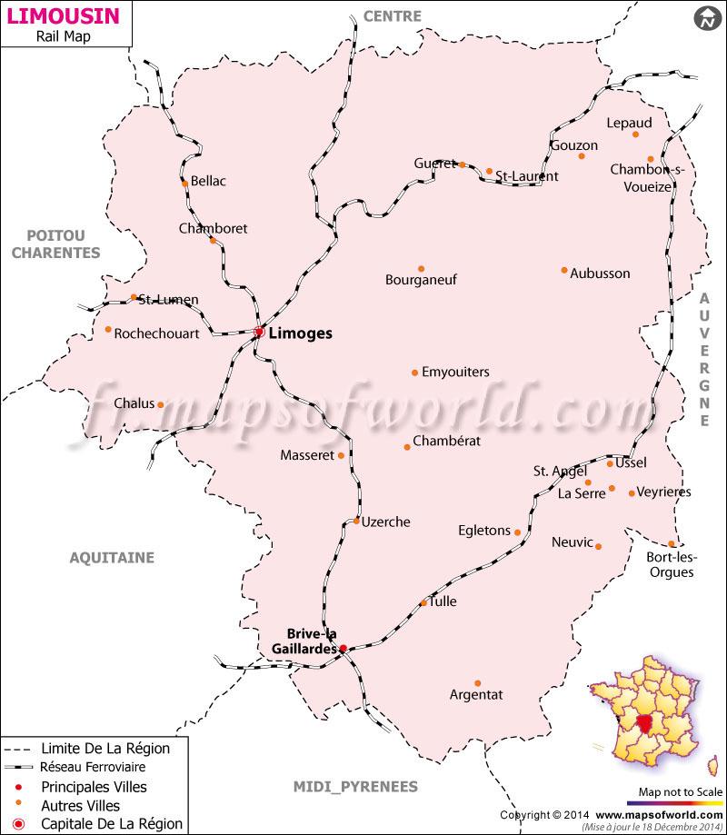 Limousin Railway Carte France