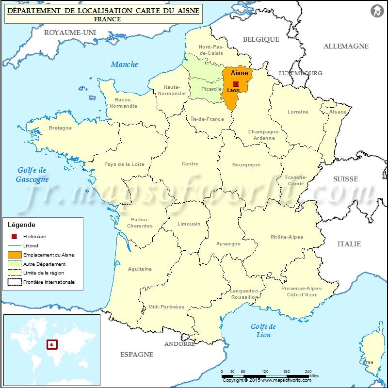 Aisne Carte de localisation