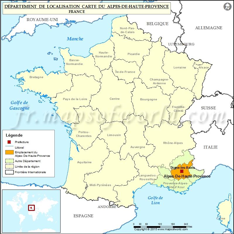 Alpes de haute provence carte localisation pictures for Haute provence