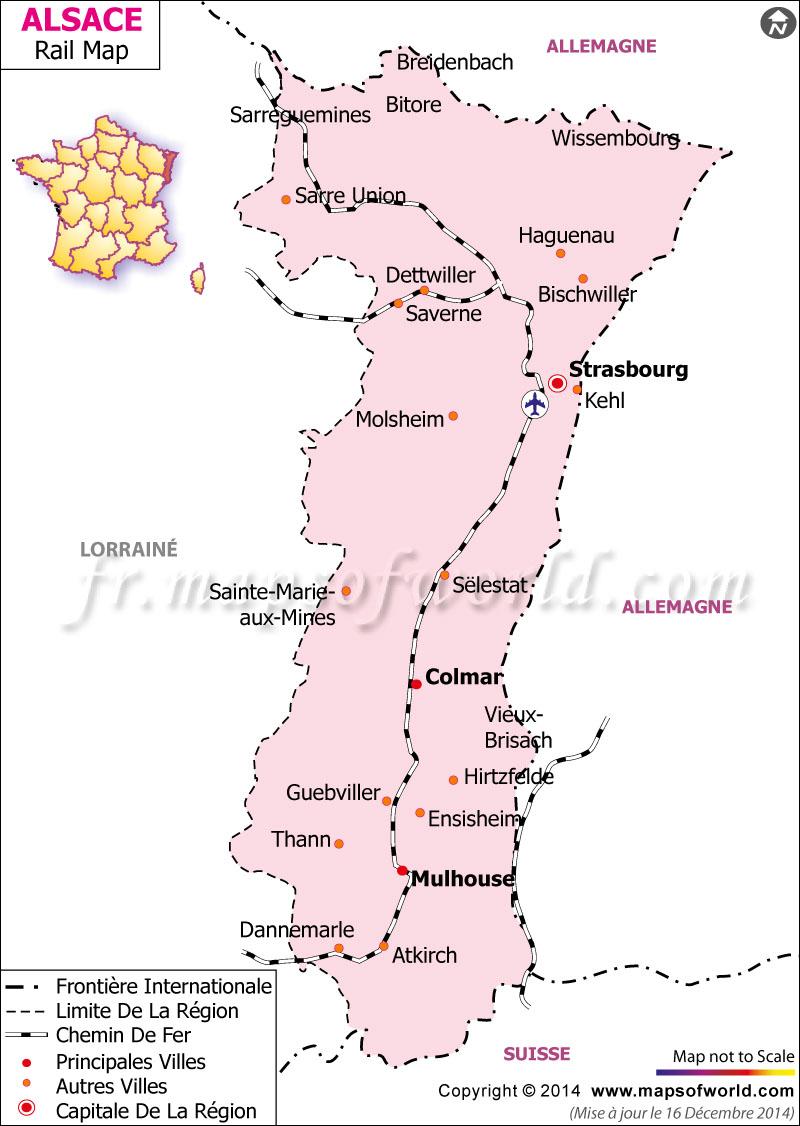 Alsace Railway Carte