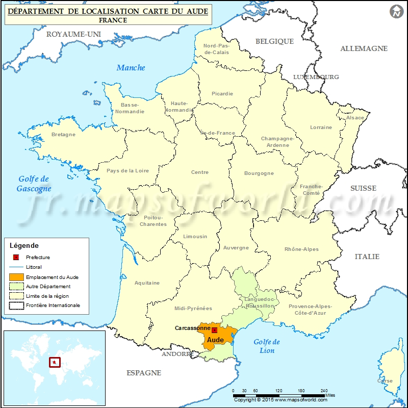 Aude Carte de localisation