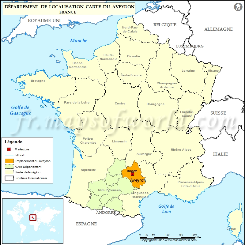 Aveyron Carte de localisation