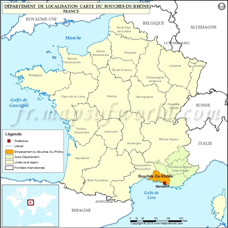 Bouches-du-Rhône Carte de localisation