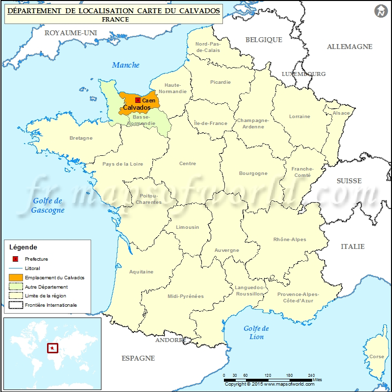carte departement calvados
