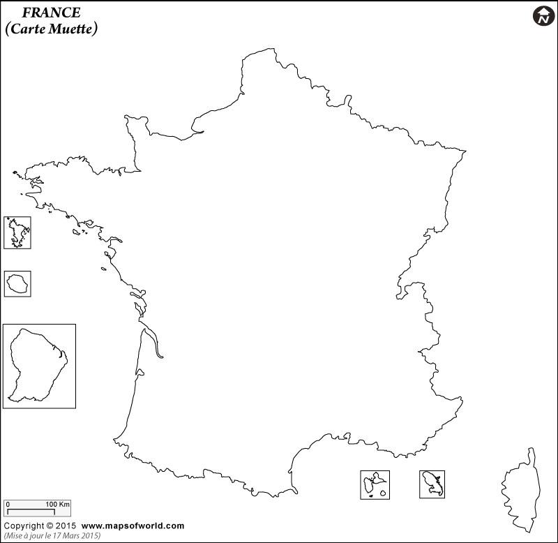 Contour Carte de France
