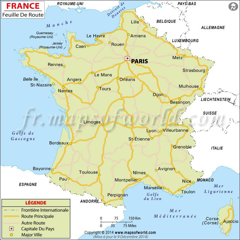 France Carte Routière