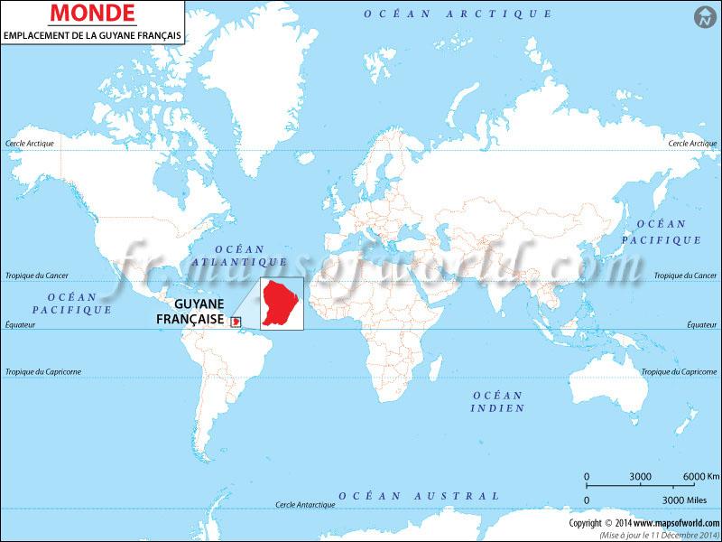 Où est Guyane Française | Guyane Française emplacement dans la
