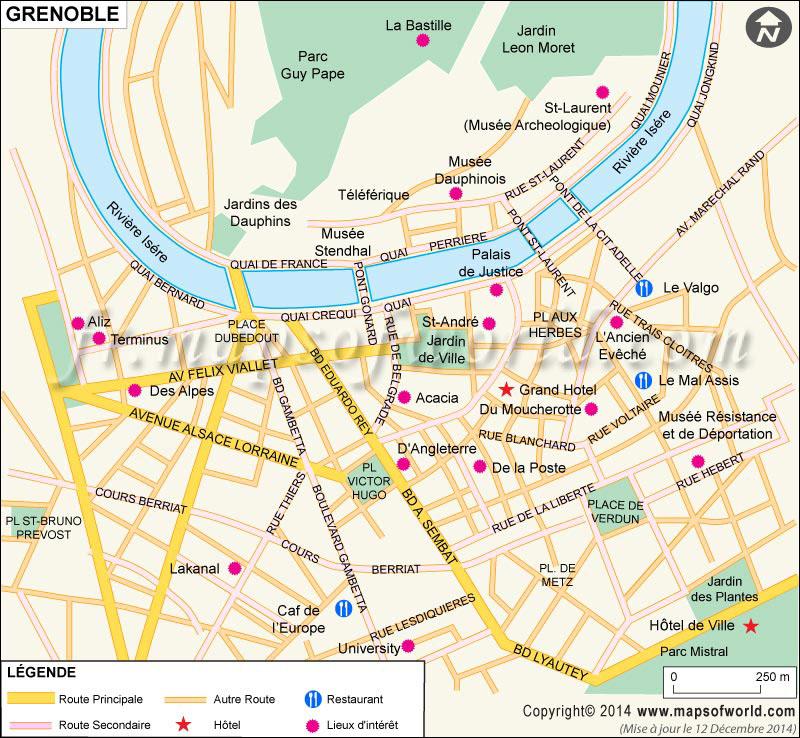 Grenoble Carte