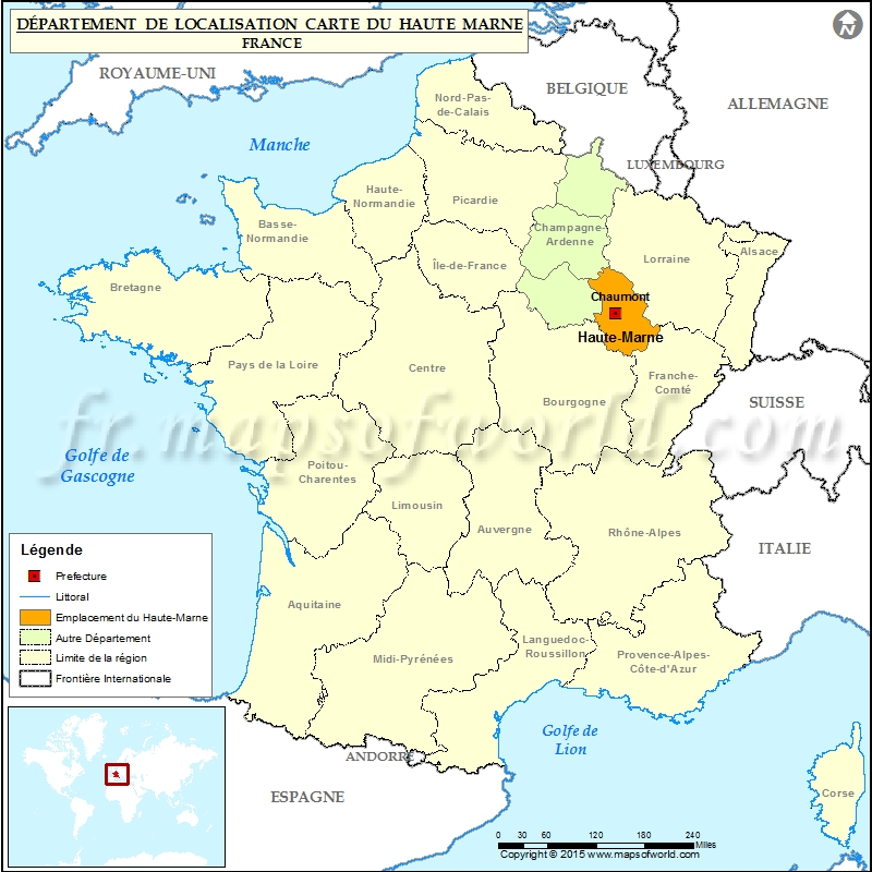 carte de france haute marne