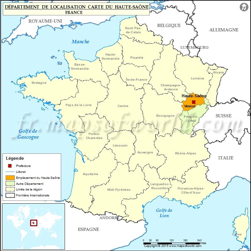 Haute-Saône Carte de localisation