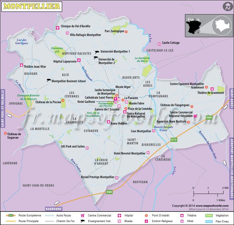 Montpellier Carte