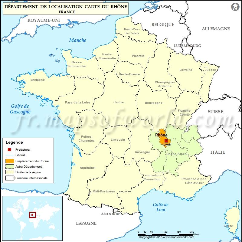 Carte de localisation de Rhône