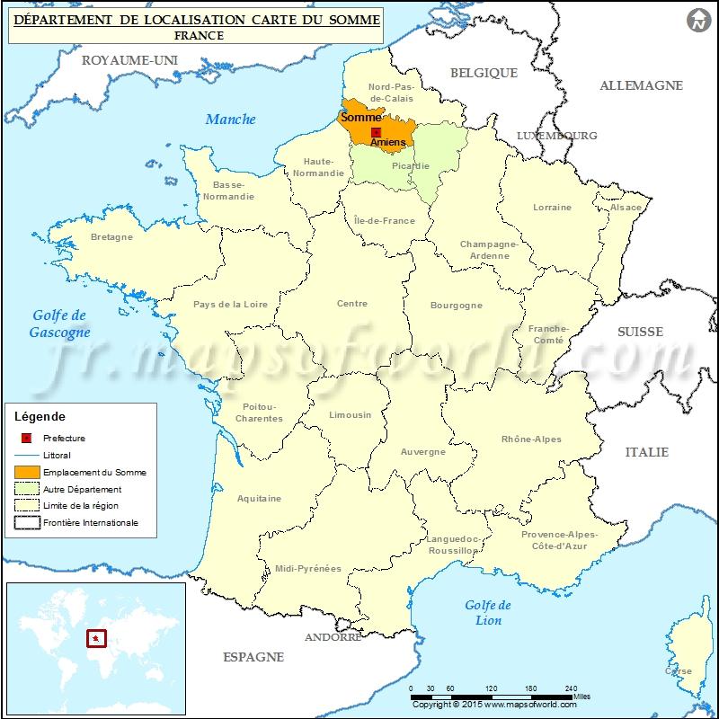 carte de la somme 80 Carte de localisation de la Somme (80), département Somme, France