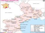 Languedoc-Roussillon Carte Routière