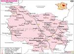 Bourgogne Railway Carte