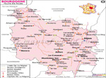 Bourgogne Carte Routière