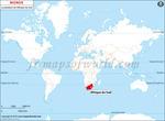 Carte de localisation du Afrique du Sud sur la carte mondiale