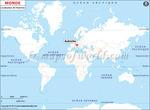 Carte de localisation du Autriche sur la carte mondiale