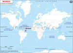 Carte de localisation du Barbade sur la carte mondiale