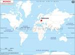 Carte de localisation du Biélorussie sur la carte mondiale