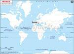 Carte de localisation du Bosnie-Herzégovine sur la carte mondiale