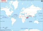 Carte de localisation du Chypre sur la carte mondiale